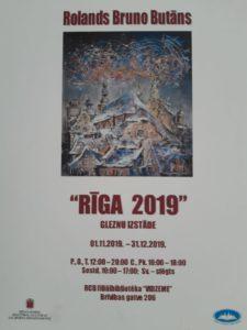 "Rolanda Bruno Butāna gleznu izstāde ""Rīga 2019"""