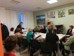 Psiholoģijas  nodarbība RCB Daugavas filiālbibliotēkā