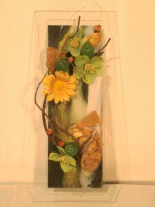 """Ziedītes Muižnieces stikla kolāžu izstāde """"Stikls – glezna – interjers"""""""