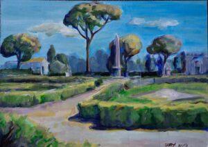 """Mākslinieces Intas Glodas gleznu izstāde """"Dabas noskaņas"""""""