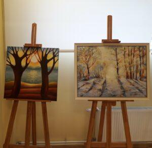 """Veras Miķītes gleznu izstāde """"Krāsu spēles"""""""