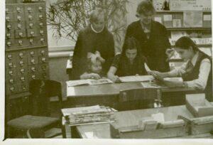 Jaunciema filiālbibliotēka 20.gadsimta 60.–70.gados.