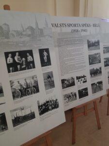 """Latvijas Sporta muzeja ceļojošā  izstāde  """"Rīga sporto"""""""