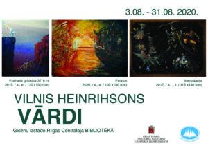 """Viļņa Heinrihsona gleznu izstāde """"Vārdi"""""""