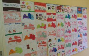 """Iļģuciema vidusskolas audzēkņu zīmējumu izstāde """"Mēs Latvijai"""""""