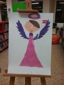 """Bērnu zīmējumu izstāde""""Eņģeļi pār Latviju"""""""