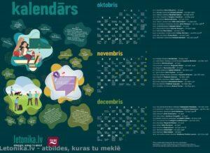 Aicinājums bibliotekāriem! Piedalāmies letonika.lv digitālā kalendāra konkursā!