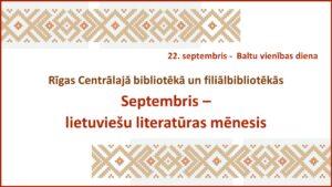 Septembris – lietuviešu literatūras mēnesis