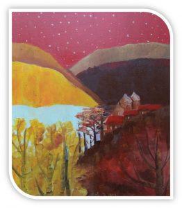 """Intas Glodas gleznu izstāde """"Sarunas ar dabu"""""""